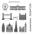 london architecture. vector... | Shutterstock .eps vector #562647130