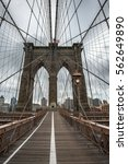 Famous Brooklyn Bridge In New...