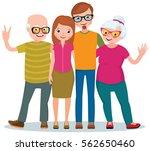 family portrait of two... | Shutterstock .eps vector #562650460
