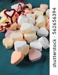 valentine's day candy in a heart | Shutterstock . vector #562656394