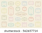 big vector set of vintage... | Shutterstock .eps vector #562657714
