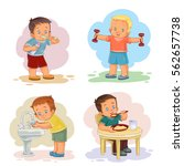 morning clip art illustrations... | Shutterstock .eps vector #562657738