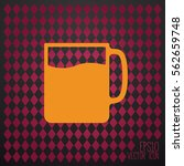 tea and coffe cup vector icon. | Shutterstock .eps vector #562659748