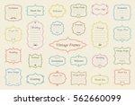 big vector set of vintage... | Shutterstock .eps vector #562660099