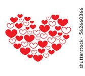 repeating red hearts | Shutterstock . vector #562660366