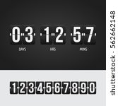 countdown timer. clock counter. ... | Shutterstock .eps vector #562662148