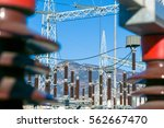 electrical substation... | Shutterstock . vector #562667470