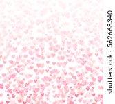 heart bokeh abstract background ... | Shutterstock .eps vector #562668340