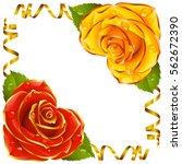 corner vignette from the rose... | Shutterstock .eps vector #562672390