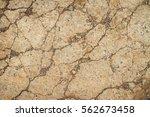 grunge texture dry cracked... | Shutterstock . vector #562673458