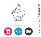 cupcake icon. dessert cake sign.... | Shutterstock .eps vector #562674658