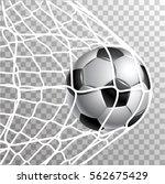 soccer ball in a grid of gate | Shutterstock .eps vector #562675429