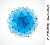 vector dimensional wireframe... | Shutterstock .eps vector #562682506