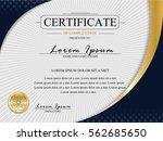 certificate template.luxury... | Shutterstock .eps vector #562685650
