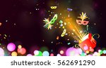 open gift box with traditional... | Shutterstock . vector #562691290