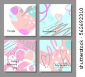 valentine s day creative... | Shutterstock .eps vector #562692310