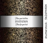 baroque background with antique ... | Shutterstock .eps vector #562694404