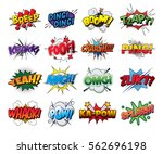 set vector comic sound effects... | Shutterstock .eps vector #562696198