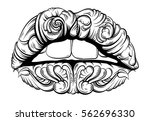 vector illustration of surreal... | Shutterstock .eps vector #562696330
