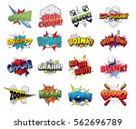 collection vector comic sound... | Shutterstock .eps vector #562696789