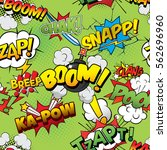 boom seamless comics background | Shutterstock .eps vector #562696960