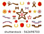 set of military objects related ... | Shutterstock .eps vector #562698703