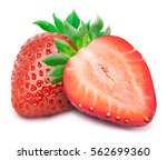 perfectly retouched strawberry... | Shutterstock . vector #562699360