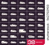 cars icons set  different... | Shutterstock .eps vector #562702903