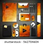 stationery design   identity... | Shutterstock .eps vector #562704604