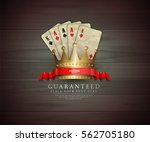 casino card design   vintage... | Shutterstock .eps vector #562705180