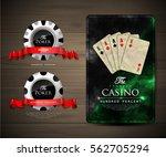 casino card design   vintage... | Shutterstock .eps vector #562705294