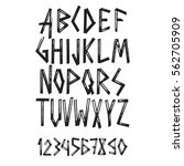 graphic font for your design....   Shutterstock .eps vector #562705909