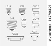 light bulb base type icon set... | Shutterstock .eps vector #562706809