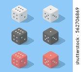 white  black  red dice.... | Shutterstock .eps vector #562706869