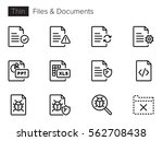 files   documents thin line... | Shutterstock .eps vector #562708438