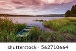 Boat On The Shore Of Lipno Lake