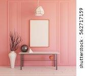interior mockup illustration ... | Shutterstock . vector #562717159