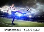 football player in the stadium | Shutterstock . vector #562717660