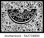illustration of watermelon... | Shutterstock .eps vector #562718800