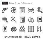 crime   law enforcement thin... | Shutterstock .eps vector #562718956