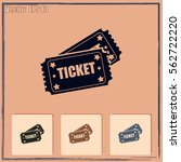 ticket icon | Shutterstock .eps vector #562722220