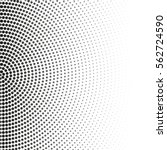 vector halftone dots. black... | Shutterstock .eps vector #562724590