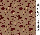 seamless pattern in retro style....   Shutterstock .eps vector #562725298
