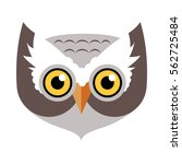 Owl bird carnival mask vector illustration in flat. Binocular vision, binaural hearing bird. Childish masquerade mask isolated on white. New Year masque for festivals, holiday dress code for kids