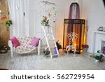 interior with beautiful... | Shutterstock . vector #562729954