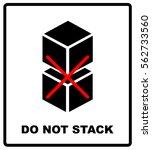 do not stack packaging symbol... | Shutterstock .eps vector #562733560