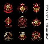royal symbols  flowers  floral...   Shutterstock .eps vector #562735618