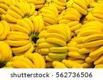 Fresh banana yellow background...