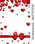 valentine's white love... | Shutterstock .eps vector #562737550