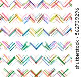 colorful lines  zigzag pattern... | Shutterstock .eps vector #562739296